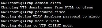 configuring vtp client
