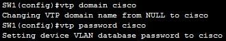 configuring vtp server