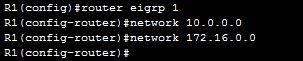 eigrp r1 configuration