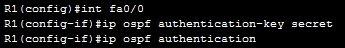 ospf authentication configuration 1