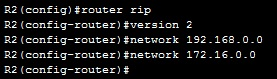 router2 rip configuration