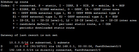 show ip route manual summary