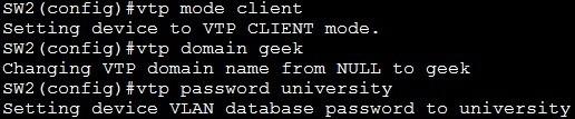Configure VTP client
